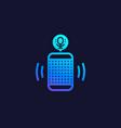smart speaker voice assistant icon vector image