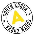 South Korea stamp vector image
