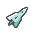 space rocket simple icon cartoon vector image