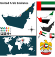 United Arab Emirates map world