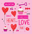 valentine i love you sweetheart cute cartoon vector image vector image