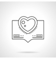 Valentines Day greetings flat line icon vector image vector image