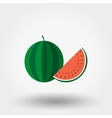 Watermelon flat icon vector image vector image