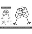 wedding glasses line icon vector image vector image