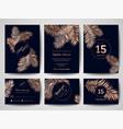 wedding invitation card template design poster vector image
