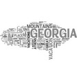 what the heck let s go to georgia text word cloud vector image vector image