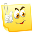 Yellow paper with clip vector image vector image