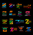 z icons corporate identity colorful trendy design vector image vector image