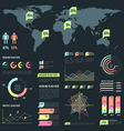 light color infographic elements collection vector image