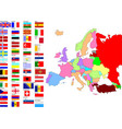 map of europe with country flags vector image