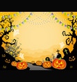 a seamless halloween landscape vector image vector image