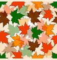 autumn seamless background maple leaves vector image vector image