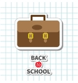 Back to school Big brown schoolbag briefcase on vector image vector image