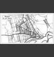 bangui central african republic city map in retro vector image vector image