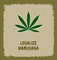 banner of marijuana legalization a leaf of vector image vector image