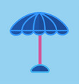 blue sun umbrella with pink stick isolated vector image vector image