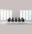 boardroom with furniture empty conference room vector image