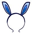 Bunny ears headband on white background