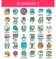 business essential line icons vector image vector image