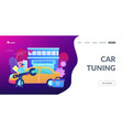 car tuning concept landing page vector image vector image