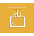Christmas background with gift box and snowflake vector image