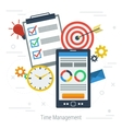 Concept time management vector image vector image