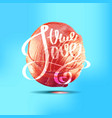conceptual hand drawn phrase true love vector image
