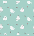 cute kitty seamless pattern white cats on vector image vector image