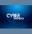 cyber monday sale vector image vector image