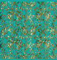 damask baroque gold seamless pattern vector image vector image
