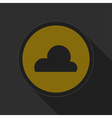 dark gray and yellow icon - cloudy vector image