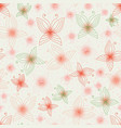 delicate pink butterlies seamless pattern vector image vector image