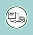 delivery truck line icon vector image