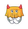 devil table cloth mascot cartoon vector image