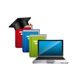 distance education design vector image vector image