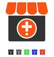 drugstore flat icon vector image