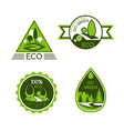 eco green and nature protection icons vector image