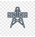 electric tower concept linear icon isolated on vector image