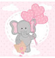 elephant with balloons on cloud vector image