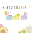 Elephants in cartoon style vector image vector image