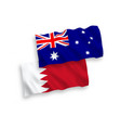 flags australia and bahrain on a white