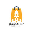 flash sale logo icon design template flash shop vector image vector image
