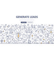 generate leads doodle concept vector image