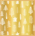 gold foil christmas tree seamless pattern vector image vector image