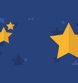 gold star on blue background style vector image