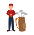 golf player avatar character vector image vector image