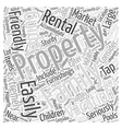 Guide to Vacation Rental Properties Word Cloud vector image vector image