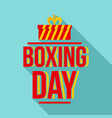 happy boxing day logo set flat style vector image vector image