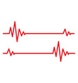 heartbeat icos vector image vector image