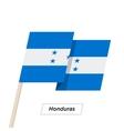 Honduras Ribbon Waving Flag Isolated on White vector image vector image